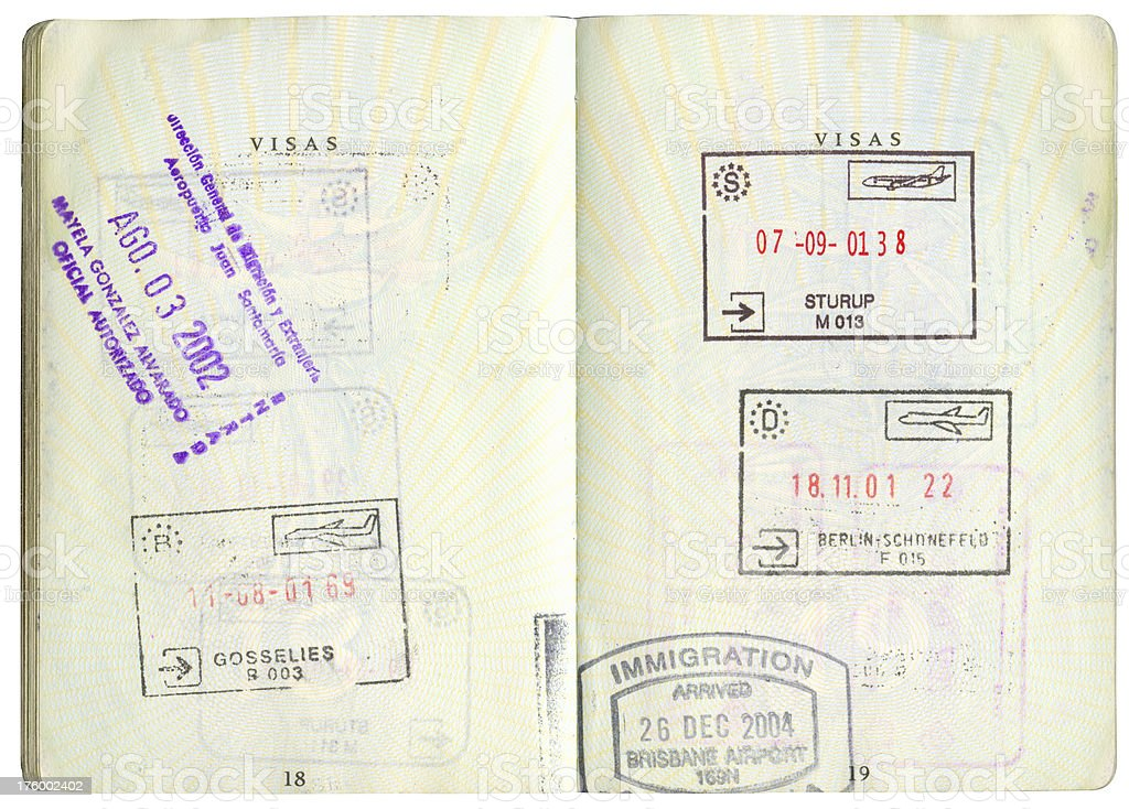 Passport stamps-1 royalty-free stock photo