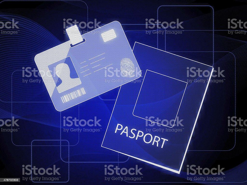 Passport System stock photo