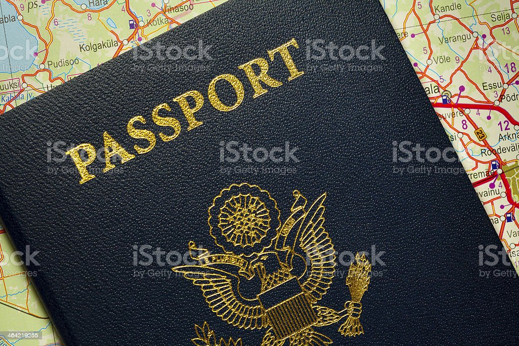 Passport the United States of America. stock photo
