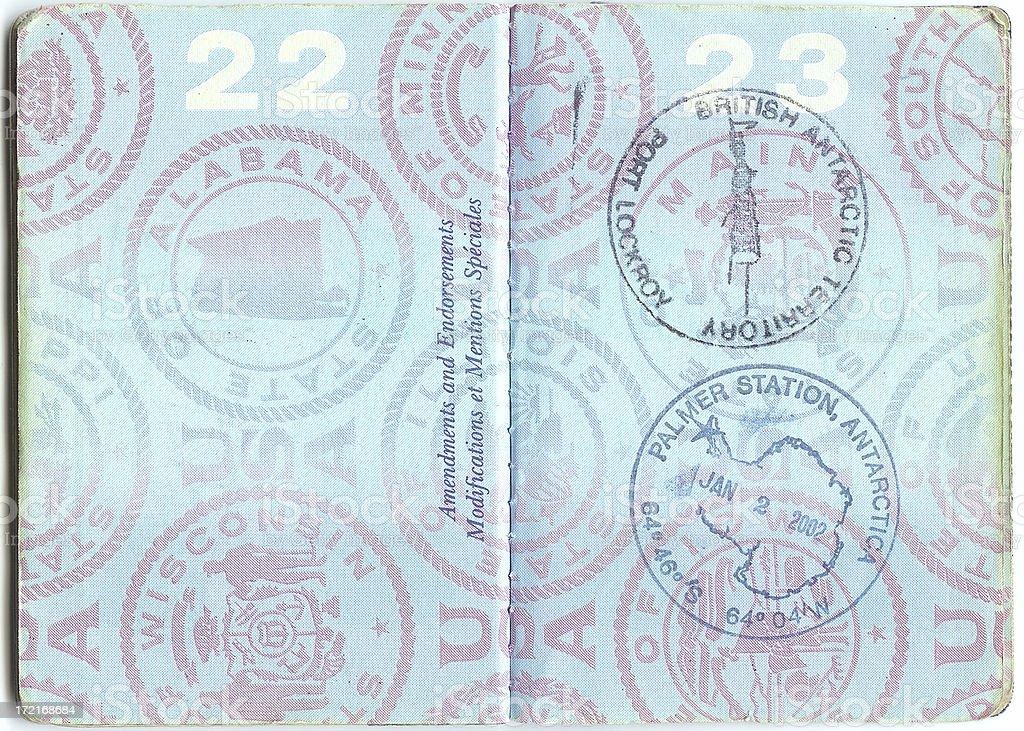 Passport to Antarctica stock photo