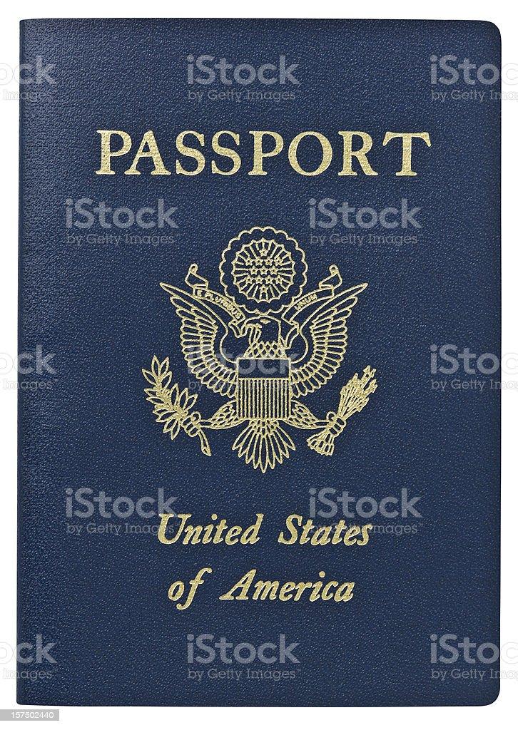Passport - USA. Clipping Path. royalty-free stock photo