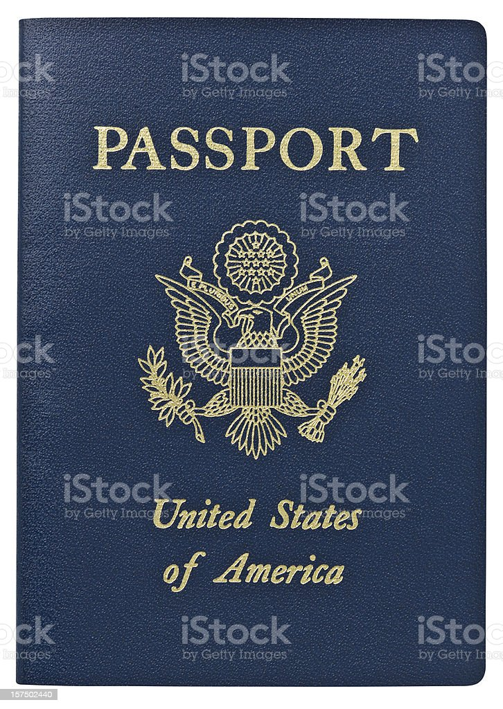 Passport - USA. Clipping Path. stock photo