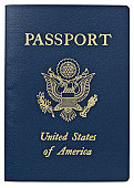 Passport - USA. Clipping Path.