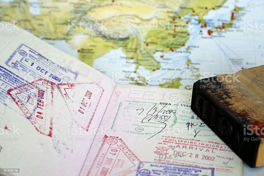 Passport Visa stock photo