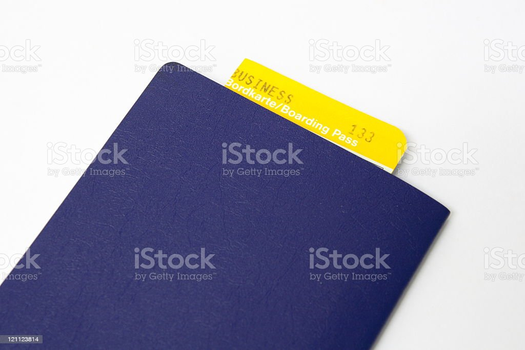 Passport with Boarding Pass royalty-free stock photo