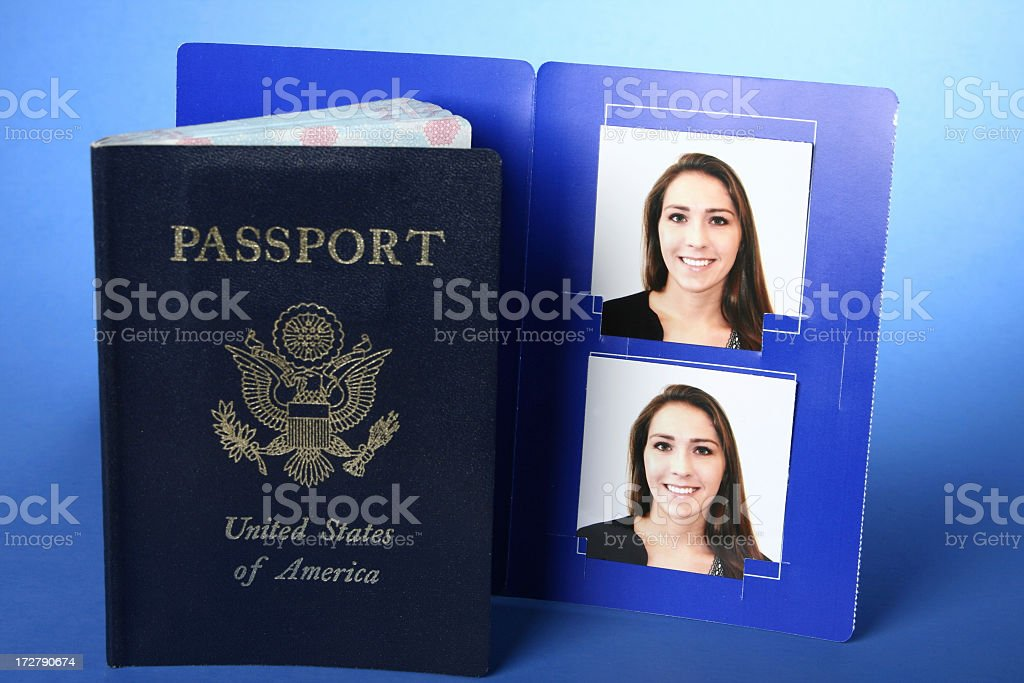 Passport with Photos stock photo