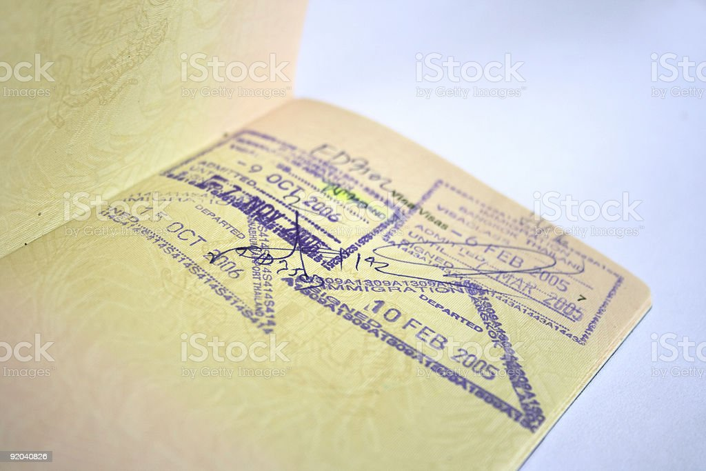 Passport with Stamps stock photo