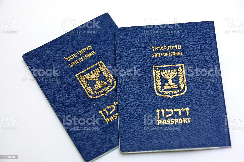 Passports of  Israel citizen royalty-free stock photo