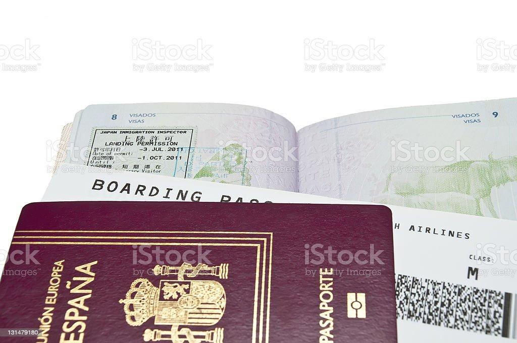 passports stock photo