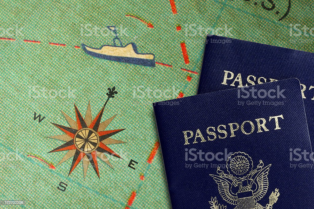 Passports royalty-free stock photo