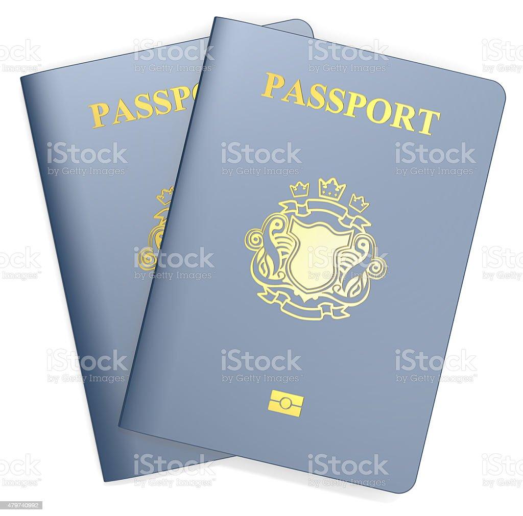 Passports. stock photo