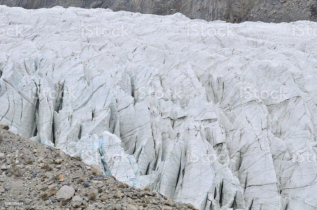 Passu glacier , Pakistan stock photo