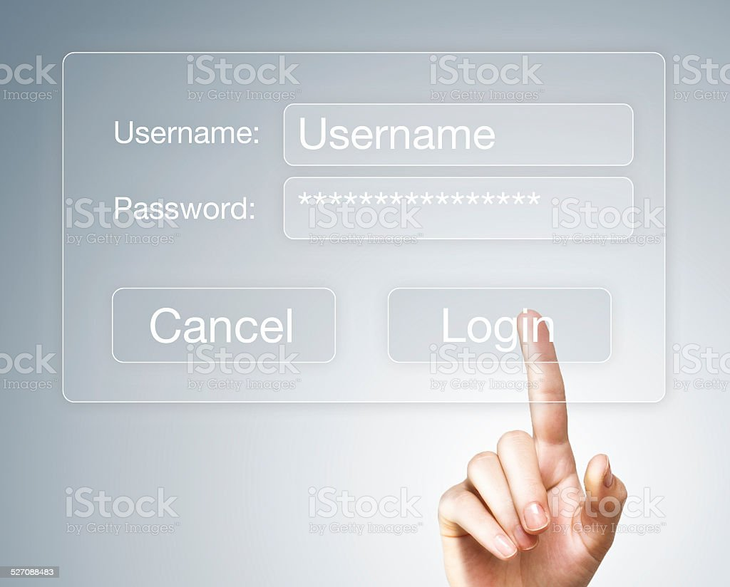Passwor / Touch screen (Click for more) stock photo