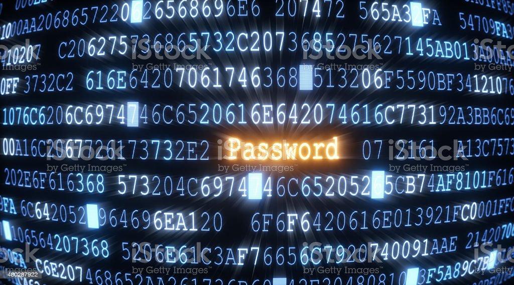 Password A02 stock photo