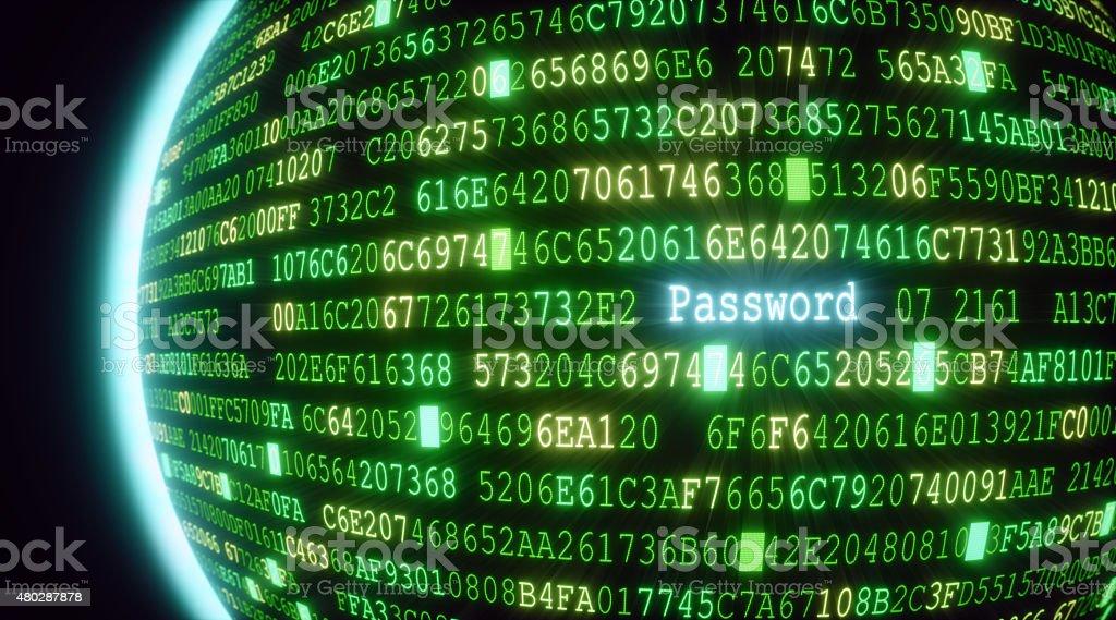 Password A03 stock photo