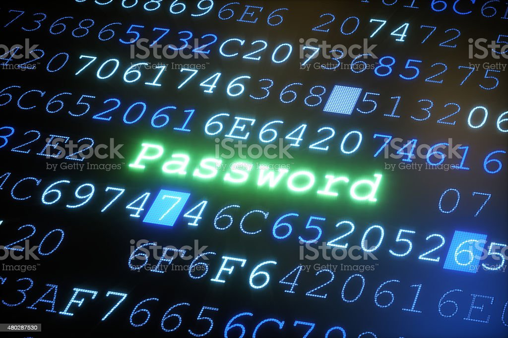 Password A05 stock photo