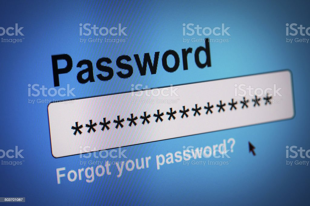 Password Box in Internet Browser stock photo