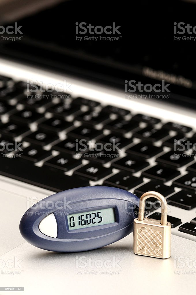 Password generator for secure home banking royalty-free stock photo