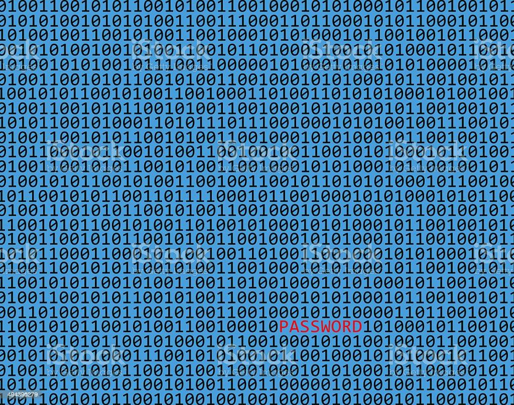 Password hacking background stock photo