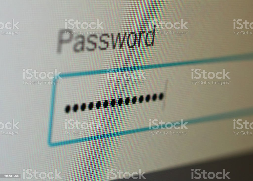 Password stock photo