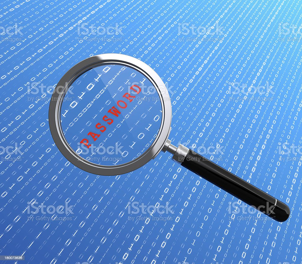 Password searching royalty-free stock photo
