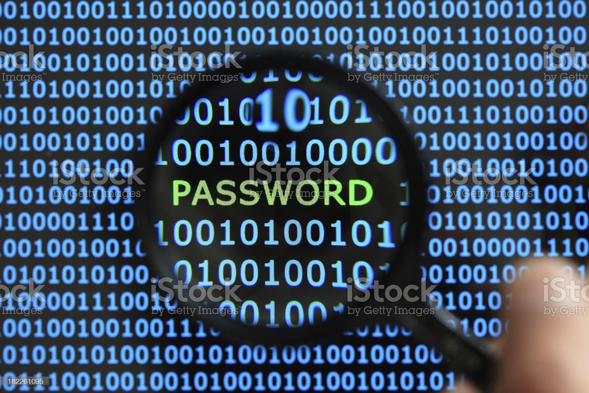 Password security royalty-free stock photo