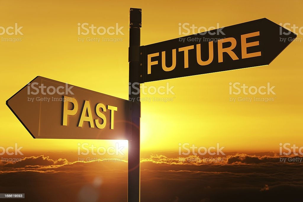 past and future royalty-free stock photo