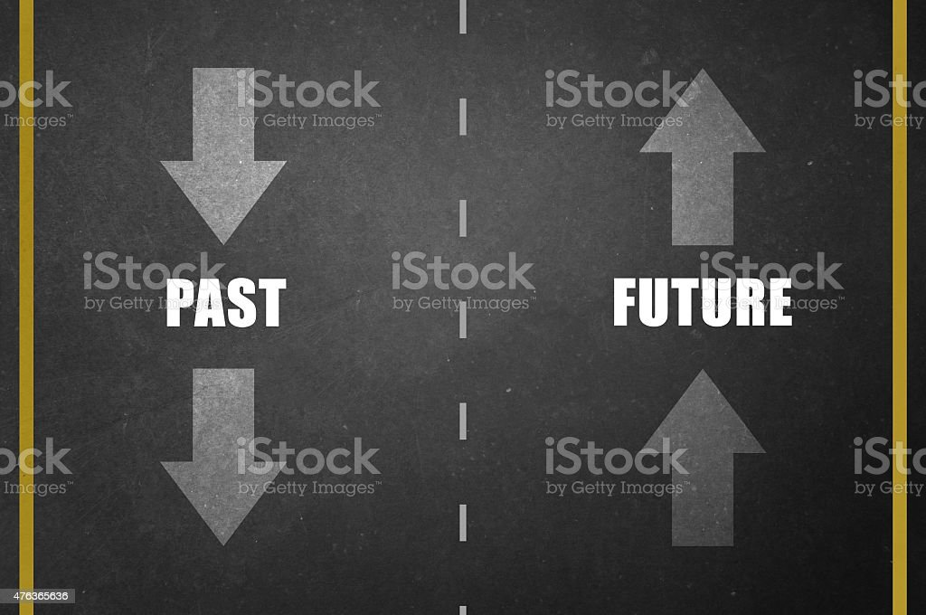 Past and Future stock photo