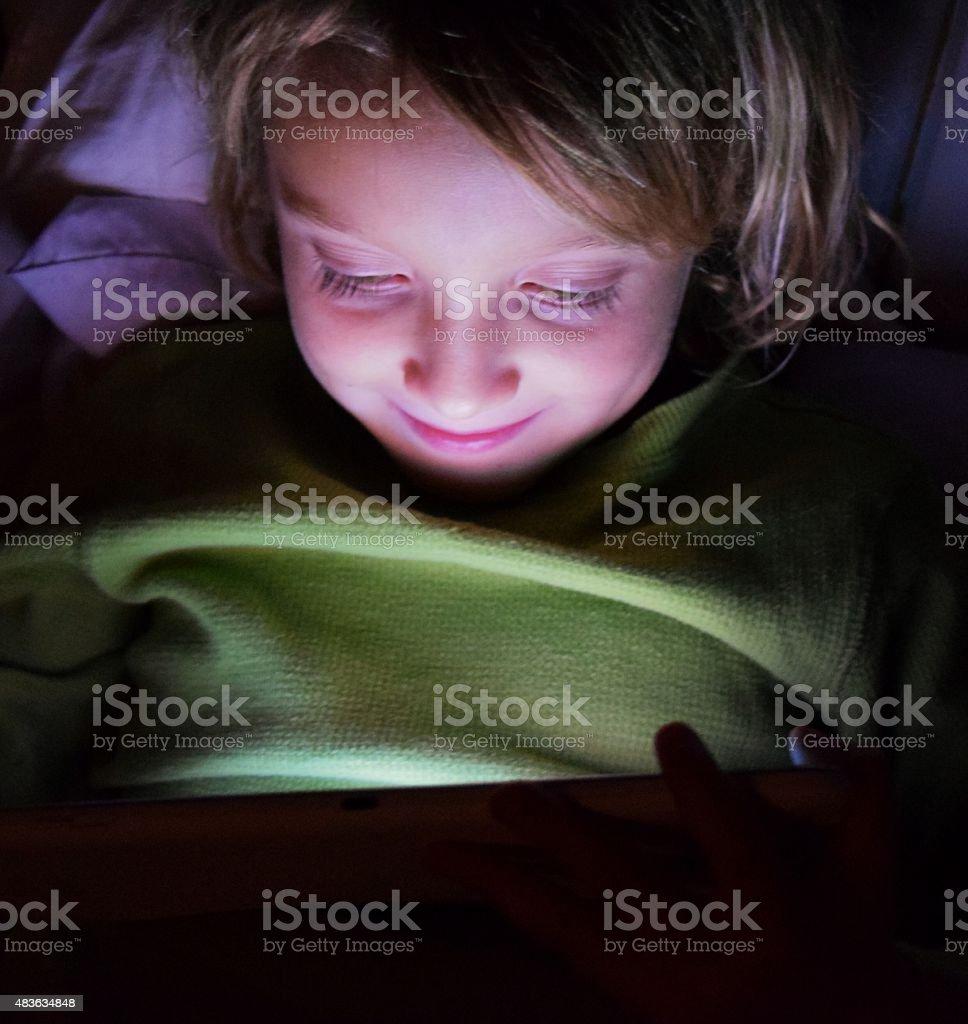 Past bedtime stock photo