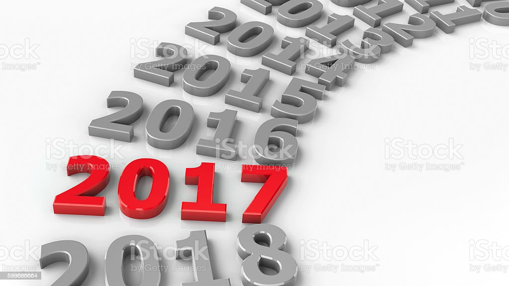 2017 past circle stock photo