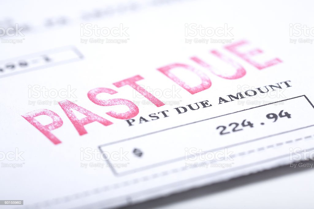 Past Due Bill royalty-free stock photo