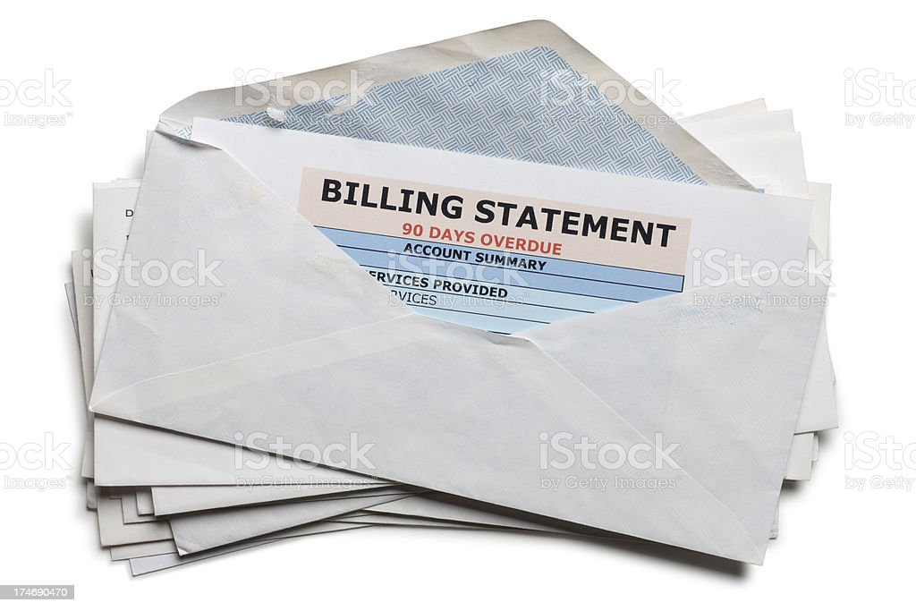 Past Due Bills stock photo