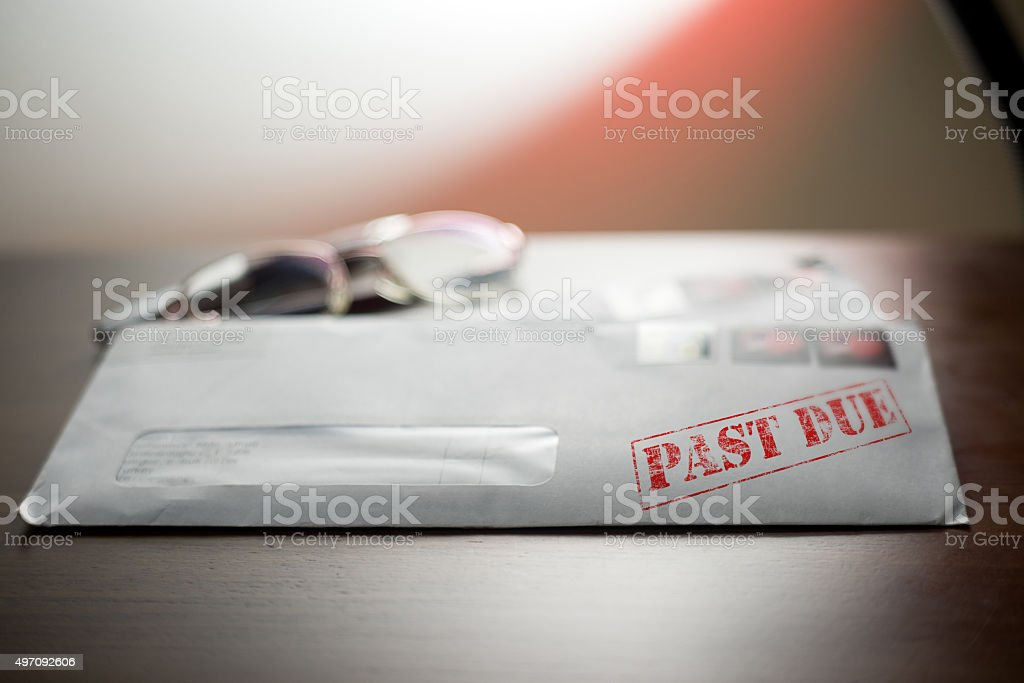 Past Due - Final notice bill stock photo