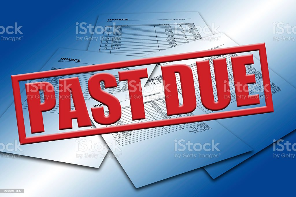 Past Due Invoices stock photo