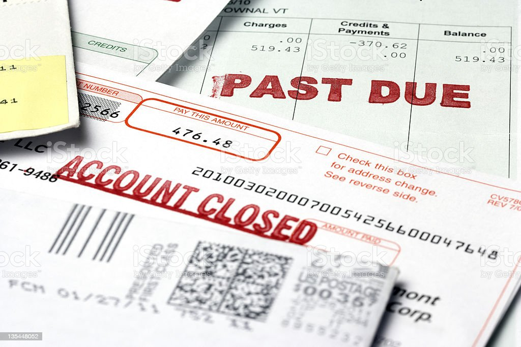Past Due Notices stock photo