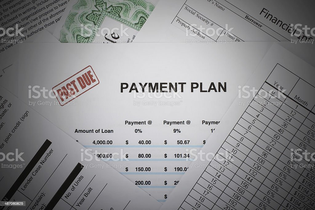 Past Due Payment Plan royalty-free stock photo