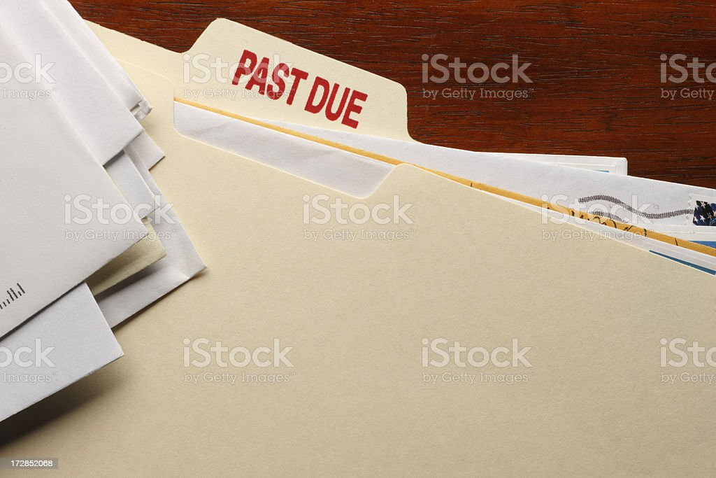 Past Due royalty-free stock photo