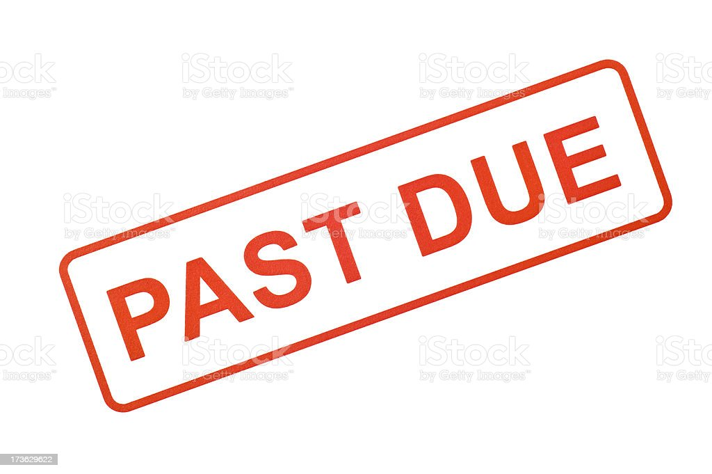 Past Due Rubber Stamp stock photo