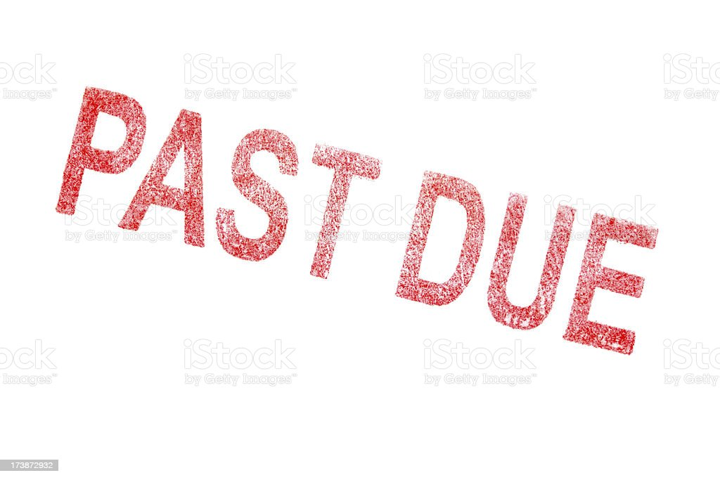 Past Due Stamp stock photo