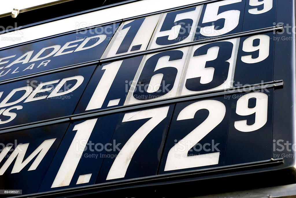 Past Gas Prices royalty-free stock photo