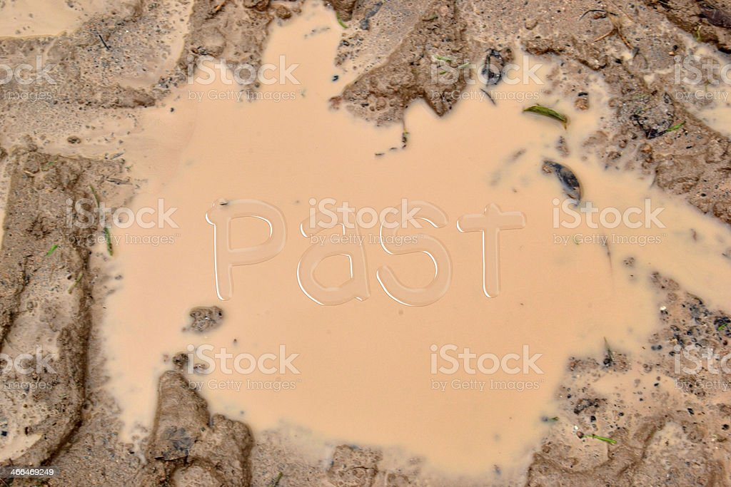 Past in the mud stock photo