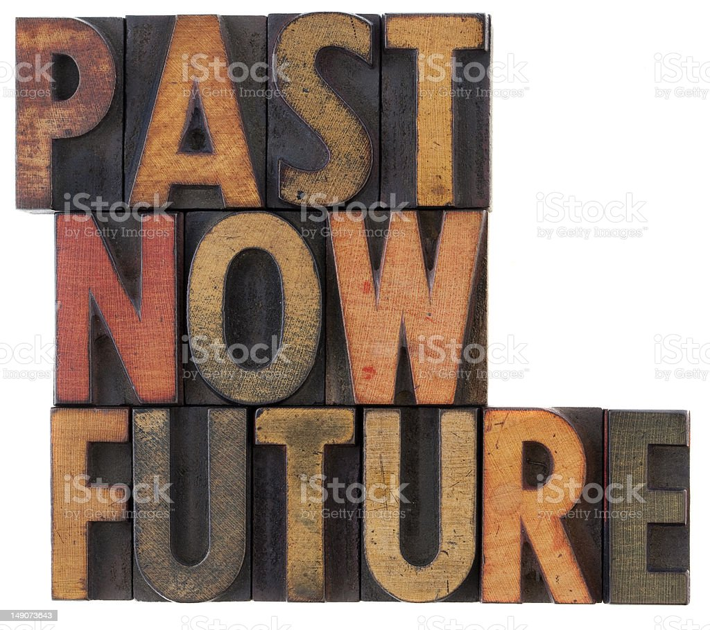 past, now, future - time concept royalty-free stock photo