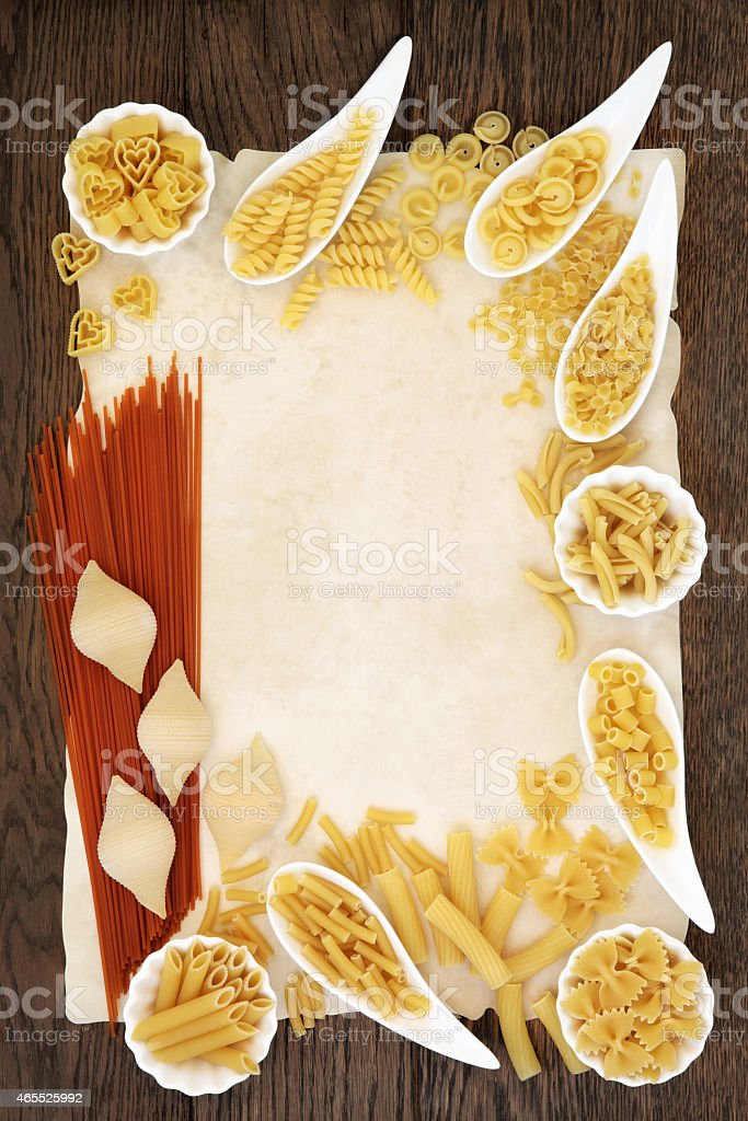 Pasta Abstract Border stock photo
