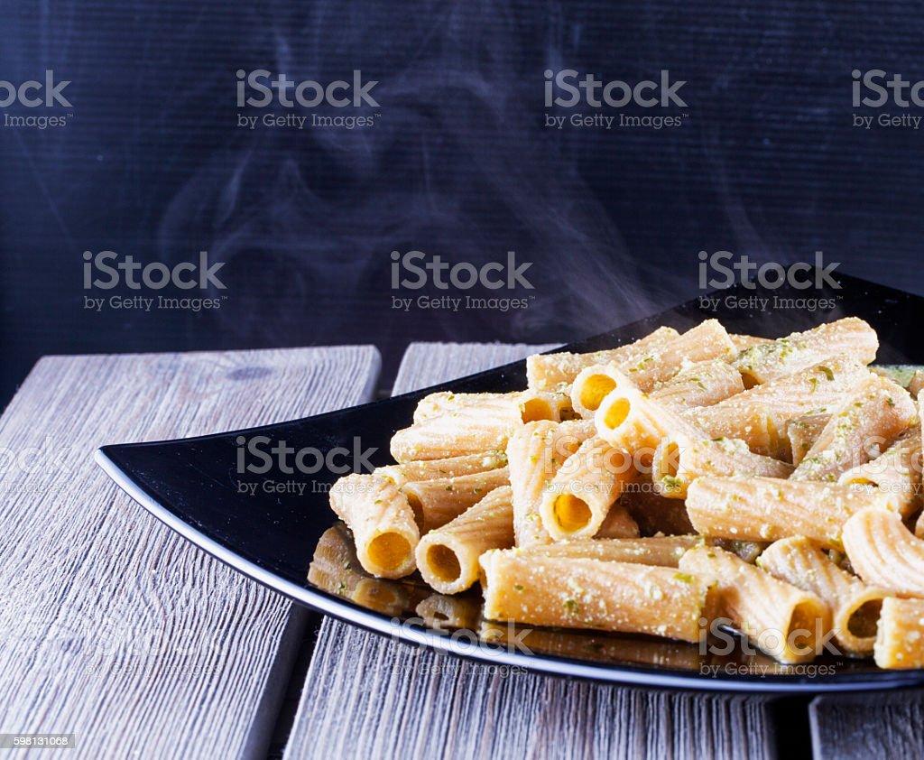 Pasta al pesto stock photo