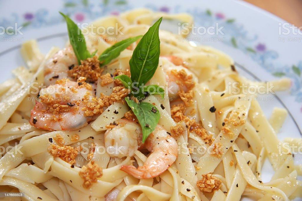 Pasta ala oglio stock photo