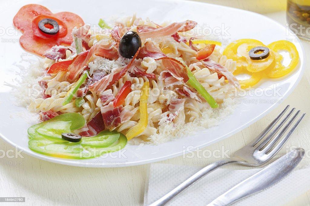 Pasta all'Amatriciana stock photo