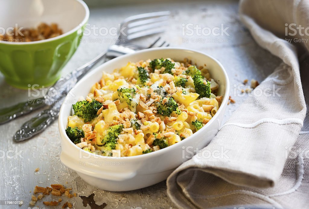 pasta and broccoli casserole royalty-free stock photo