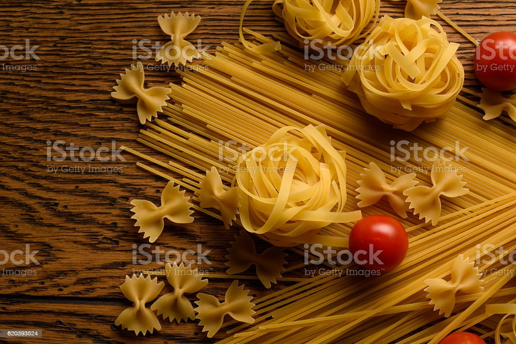 Pasta And Cherry Tomatoes stock photo