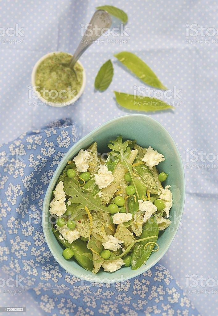 pasta and green peas salad royalty-free stock photo
