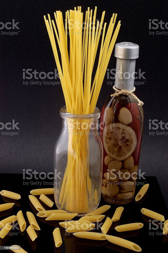 Pasta and Olive Oil royalty-free stock photo